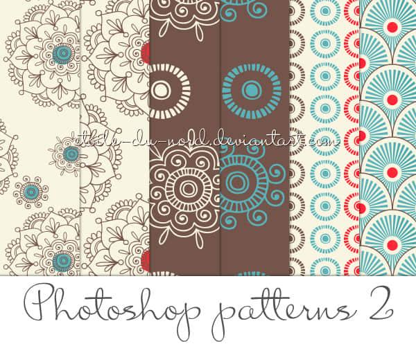 小清新艺术花纹、底纹PS预设填充图案素材下载