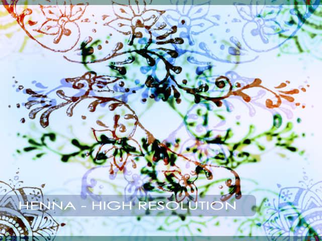 手工手绘印染式花纹图案photoshop笔刷素材 手绘花纹笔刷 印染花纹笔刷  flowers brushes