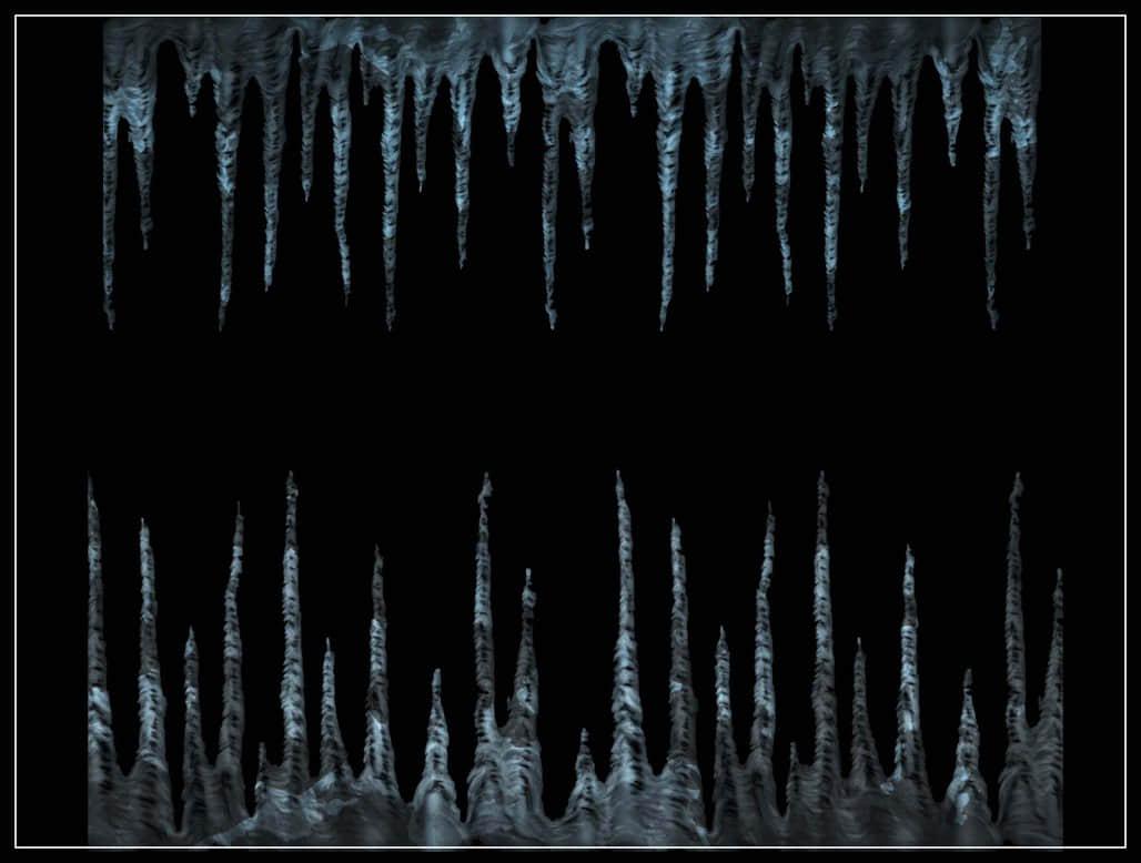 冰凌柱、冰凌锥、结冰效果photoshop笔刷素材下载