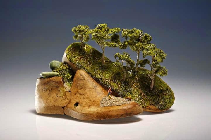 国外袖珍雕塑艺术创作