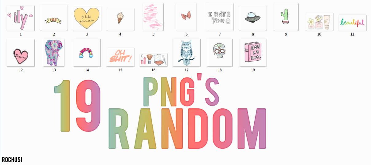19个png透明卡通饰品素材美图秀秀包下载