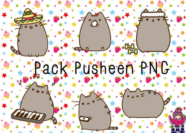 呆萌卡通猫咪PNG透明图片美图秀秀素材包 #.7