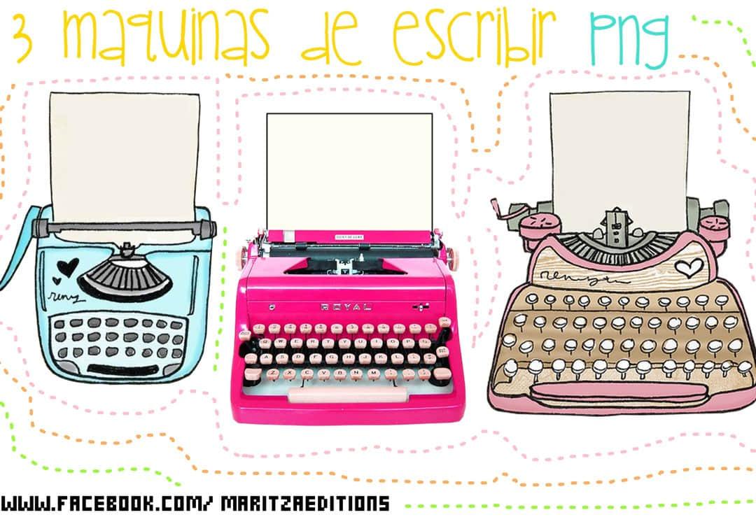 可爱卡通打字机PNG图形美图秀秀素材