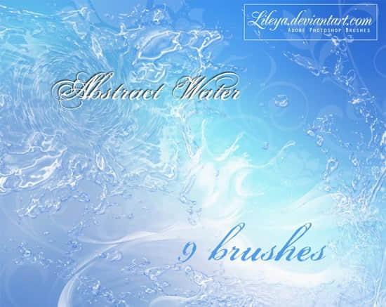 水花、水流、水浪效果Photoshop笔刷素材下载