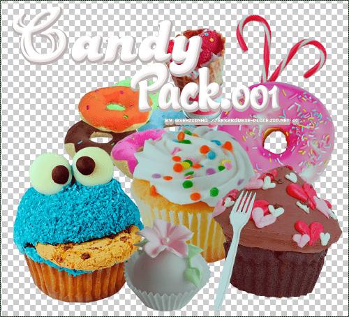 美味纸杯蛋糕、甜甜圈等【美图秀素材包】