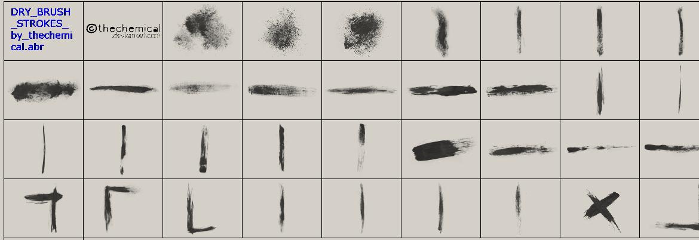 刷子痕迹、油漆划痕Photoshop笔刷素材
