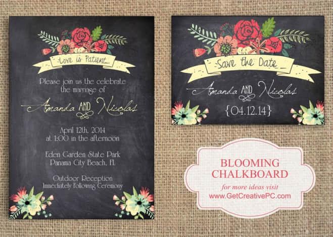 25张创意独特的婚礼喜帖、结婚邀请卡欣赏