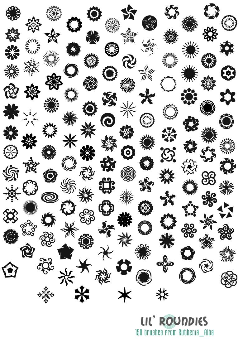 漂亮的符号花纹图案Photoshop笔刷
