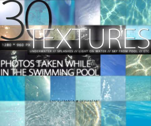 30水表面纹理素材Photoshop笔刷下载