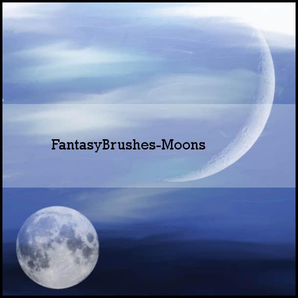 月亮、月球PS笔刷