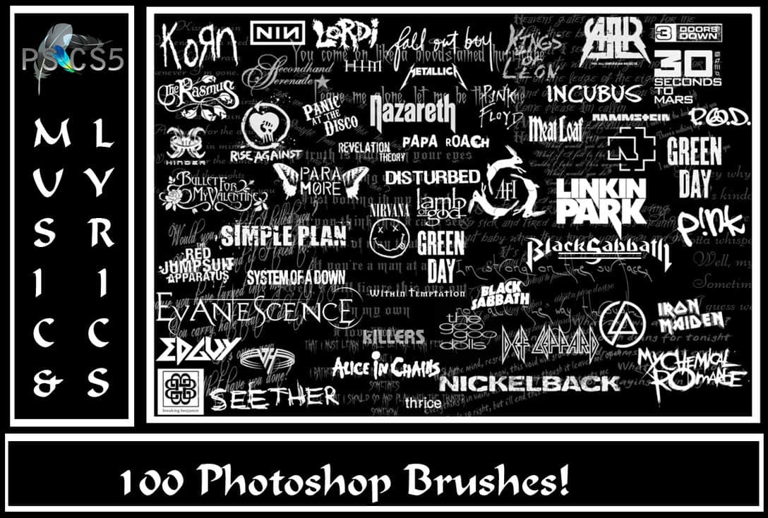 英文字体标语素材Photoshop笔刷