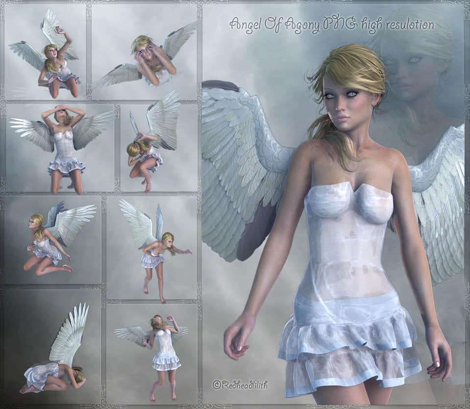 已扣图!圣神女天使受难素材【美图秀秀素材包】