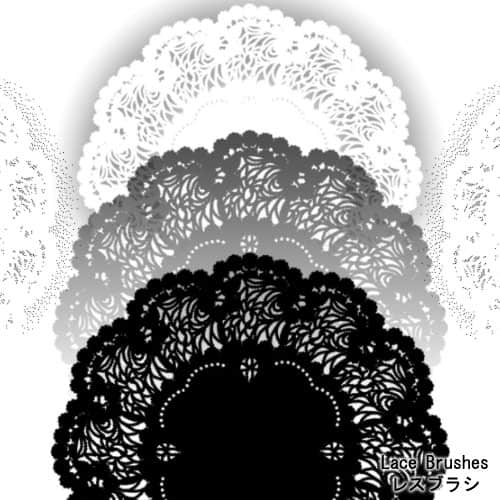 漂亮的罗盘式花边图案Photoshop笔刷素材