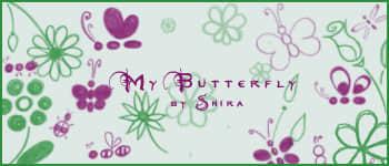 小清新手绘蝴蝶、鲜花图案Photoshop笔刷