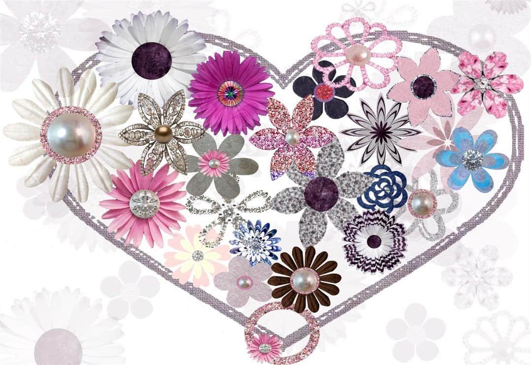 28种珠宝花朵饰品PS笔刷素材