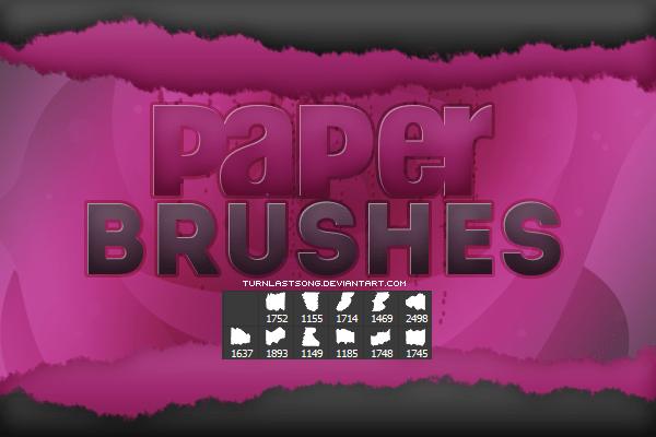 11种撕纸效果Photoshop笔刷