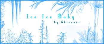 结冰效果、霜冻、窗花、冰花冰纹图案Photoshop笔刷
