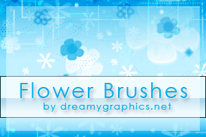 照片装饰花纹、花朵图案PS笔刷素材