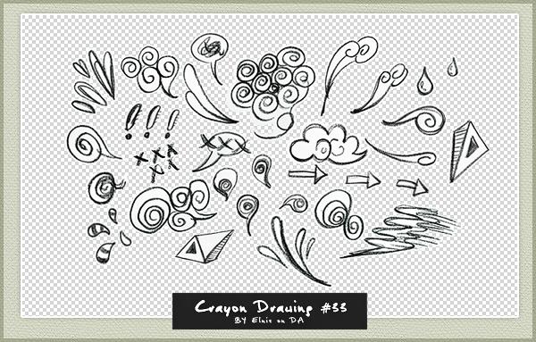 卡通云朵涂鸦、立体三角标记【美图秀秀素材】