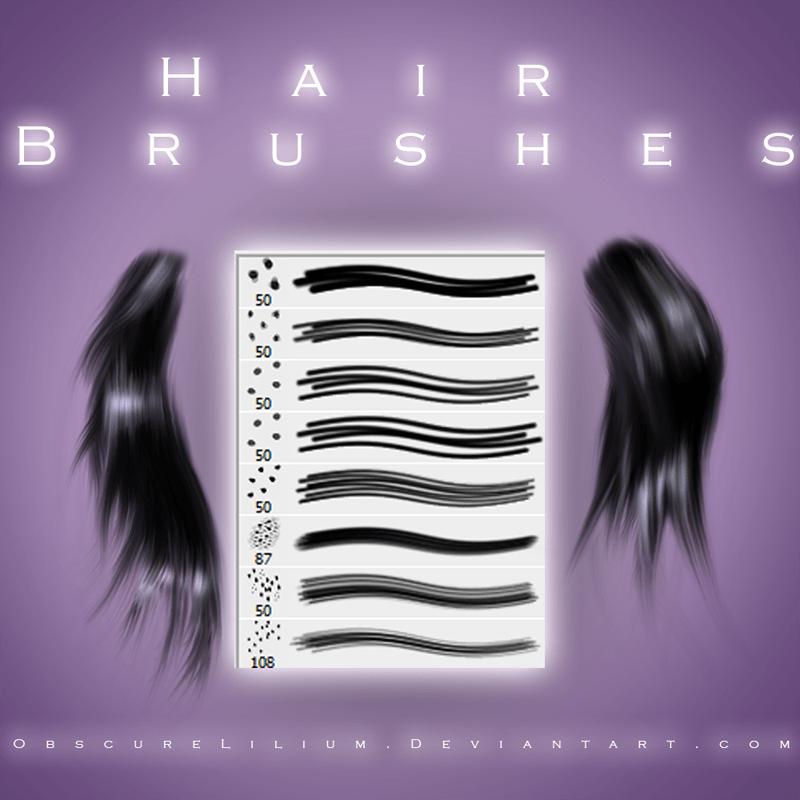 细致发丝、毛发笔触Photoshop笔刷素材