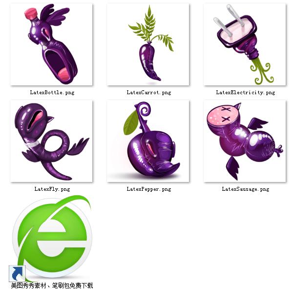 精致的百变植物精灵素材【美图秀秀笔刷包】