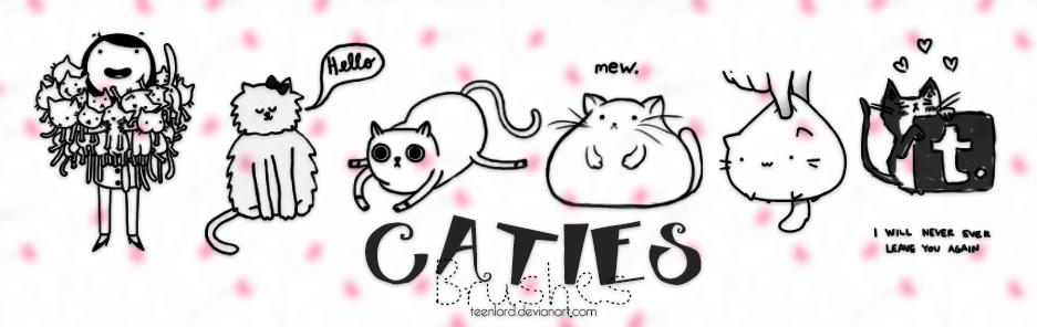 呆萌猫女孩Photoshop笔刷