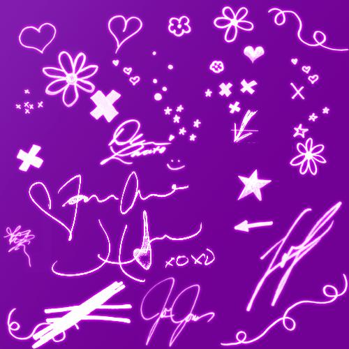 手绘儿童涂鸦Photoshop可爱图形笔刷素材