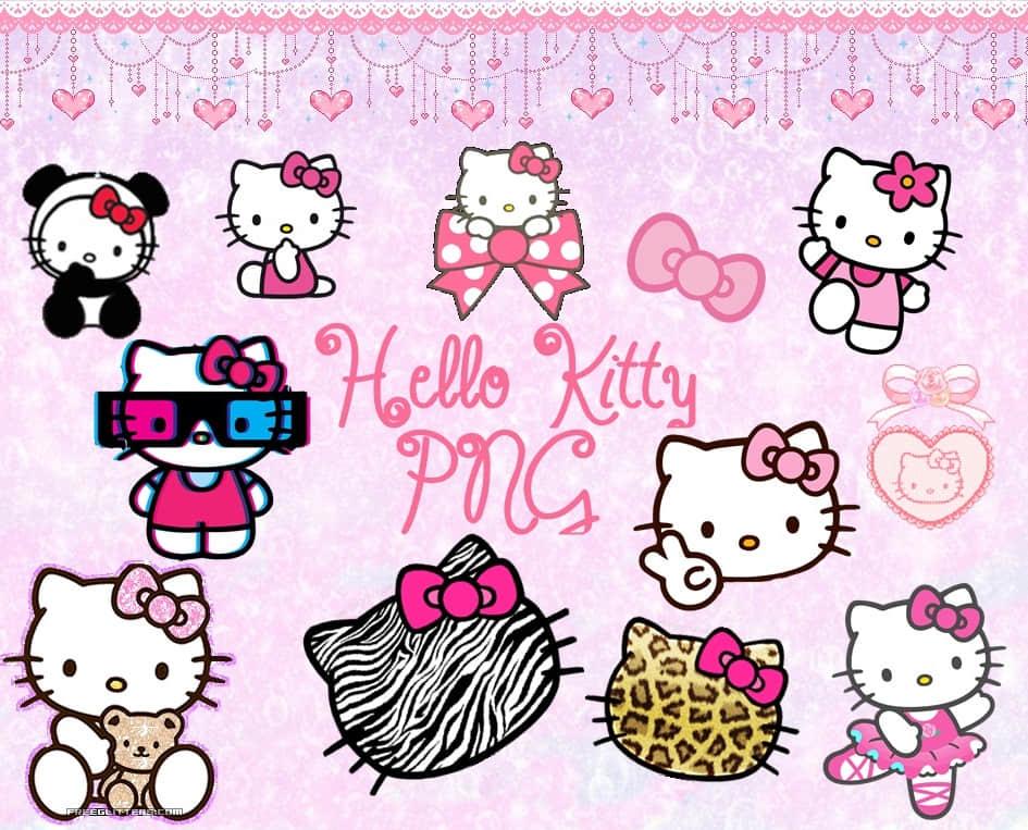 卡哇伊Hello Kitty图形美图秀秀素材包