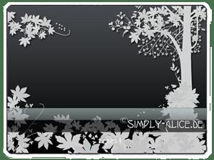 植物树木鲜花背景图案Photoshop美图笔刷