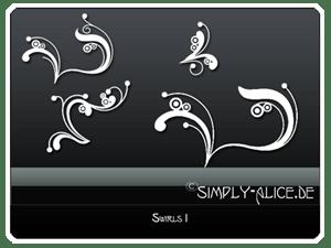 手绘线条优雅植物枝条花纹PS笔刷美图素材 #.3
