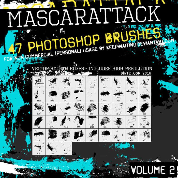 44种油漆痕迹涂抹Photoshop笔刷素材 #.2