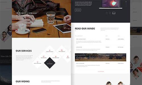 一套酷黑简洁企业网站PSD模板源文件下载