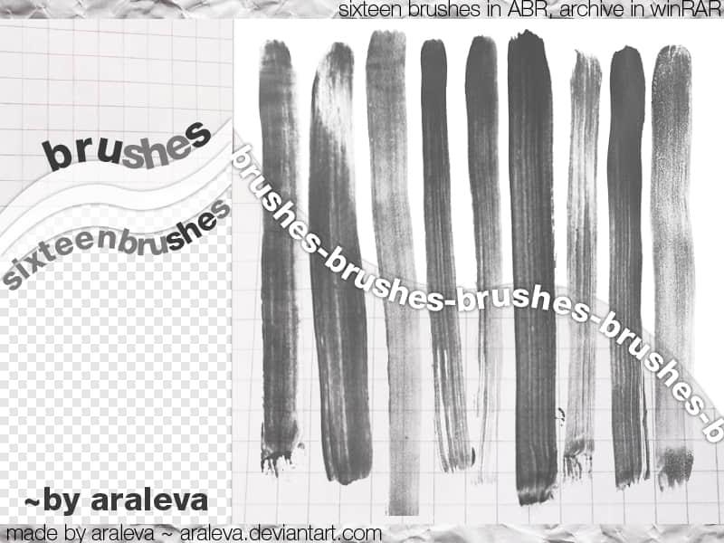 油漆刷子划痕效果Photoshop笔刷素材
