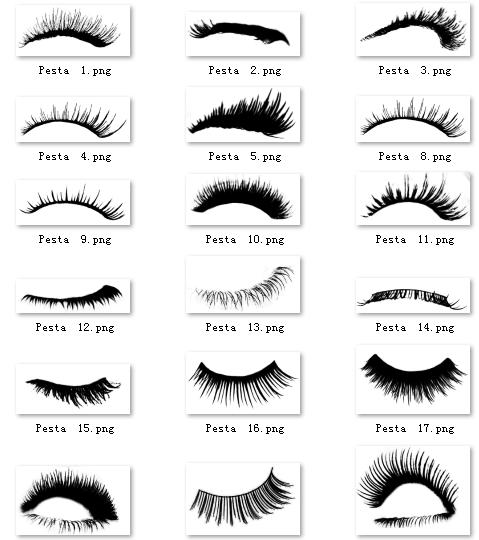 20对非主流眼睫毛扮萌美图素材下载