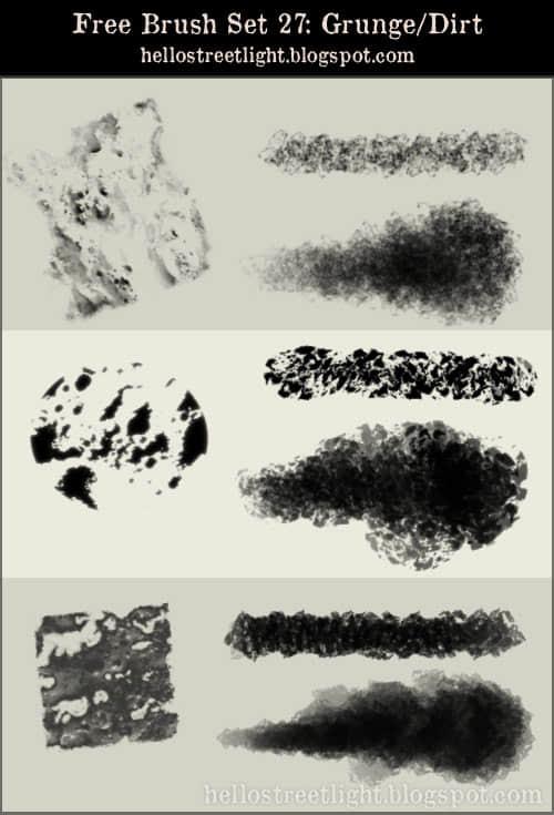 岩石材质纹理Photoshop笔刷素材下载