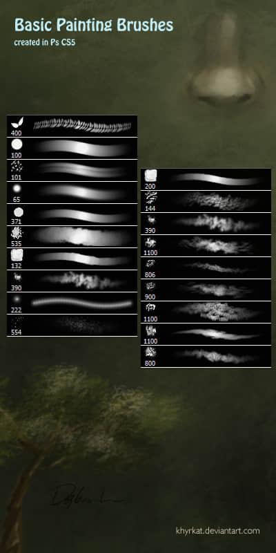 CG植物绘画笔触Photoshop笔刷