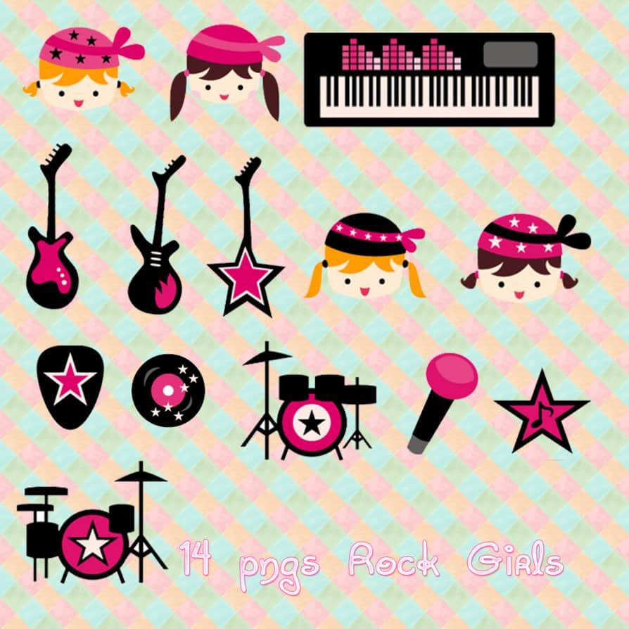 可爱音乐元素美图装扮素材下载