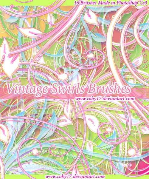 漂亮的植物花纹照片美图背景边框饰品PS笔刷 #.28