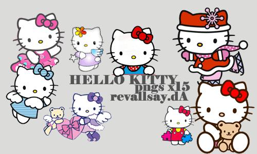 已扣背景!超级可爱Hello Kitty美图饰品素材下载
