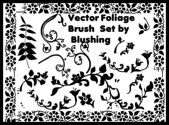植物花纹照片背景图案装饰PS笔刷素材