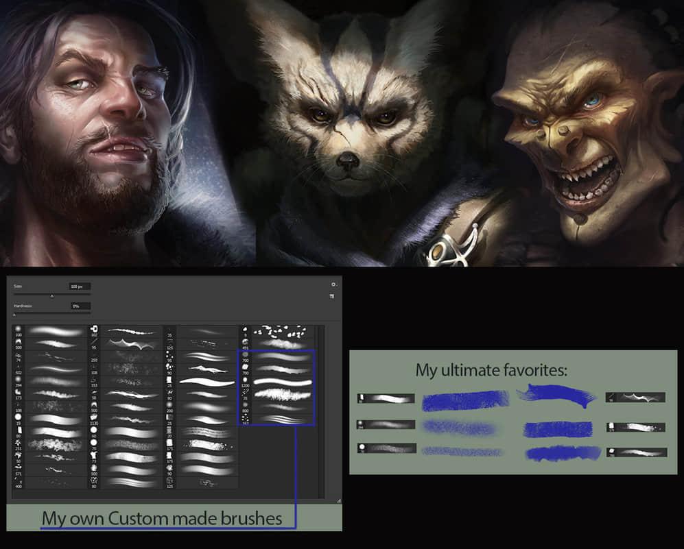 超级CG人物刻画Photoshop画笔素材