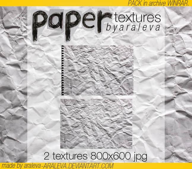 真实的褶皱纸纹理背景Photoshop笔刷