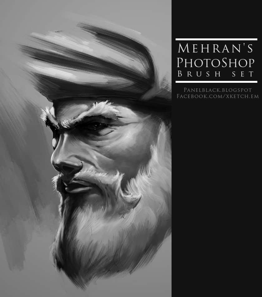 CG人物刻画Photoshop笔刷素材