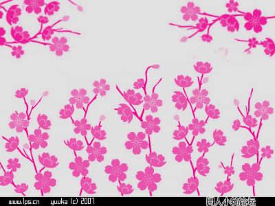 满枝桃花、鲜花图案Photoshop美图笔刷