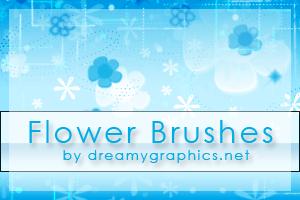 小花朵美图照片边框饰品Photoshop笔刷