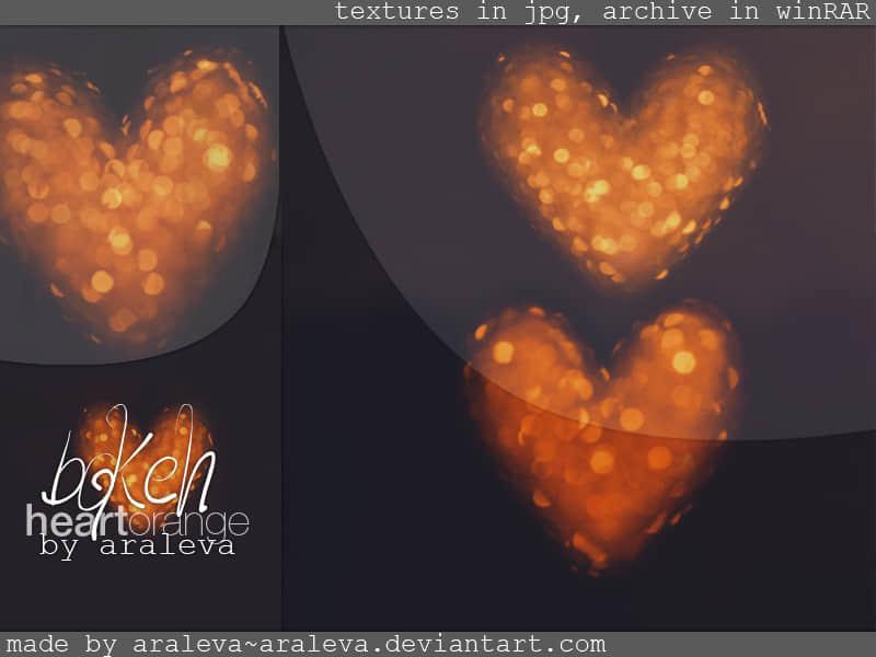 4张漂亮的光斑爱心图案美图素材