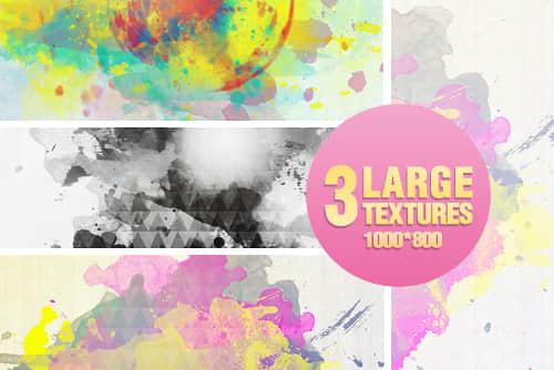 3张滴溅水墨照片背景美化素材
