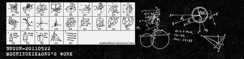 数学图形公式Photoshop笔刷素材