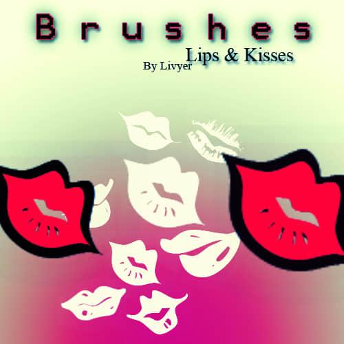 火热爱情红唇、唇印、口红印美图Photoshop素材
