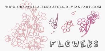 小清新复古花朵图案Photoshop美图素材